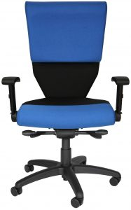 Blue Shield Chair with room for gun belt or utility belt