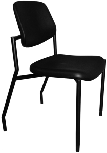 Black urethane chair for healthcare facilities