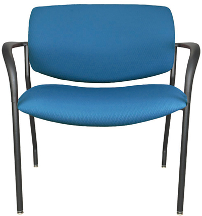 Jem bariatric guest chair, shown in blue