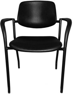 Black polyurethane office chair