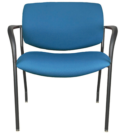 Jem heav duty stackable lobby chair, shown in blue