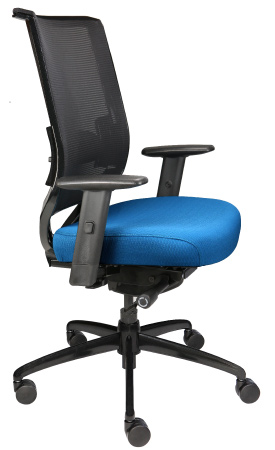 Nifty task chair with mesh back, front angle