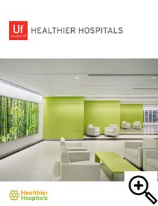 Brochure Cover: Ultrafabrics Healthier Hospitals