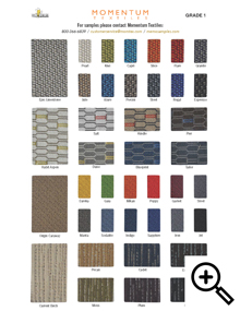 Momemtum Upholstery Swatches