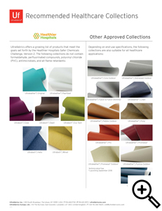 Flyer Thumbnail: Ultrafabrics Recommended Healthcare Fabric Collections