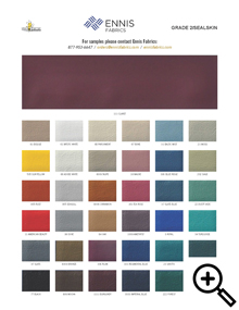 Ennis Fabrics Sealskin vinyl swatch card
