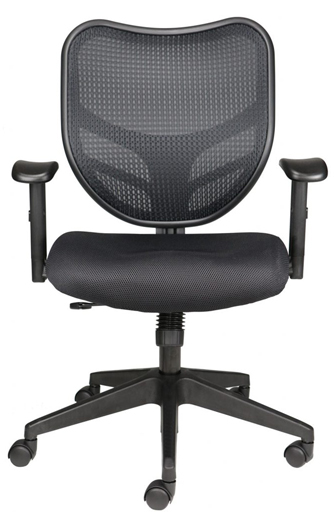 Dandy Office Chair with mesh back and black upholstered seat