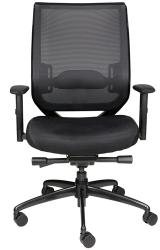 Nifty Office Chair with mesh back and black upholstered seat