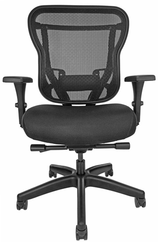 Rika Office Chair with mesh back and black upholstered seat