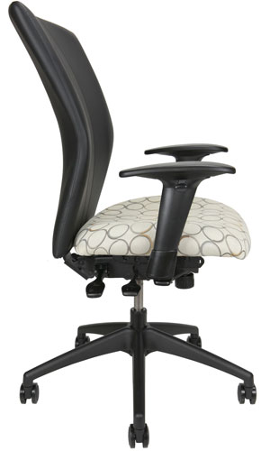 Bailey conference room chair, side view.