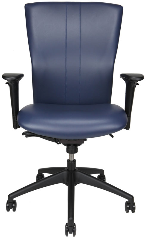 Bailey office chair with dark blue back and seat