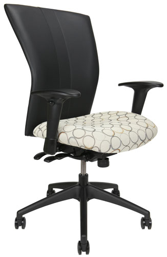 Bailey Office Chair with black back and patterned seat