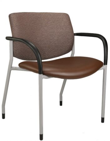 Brown Jem +3 wide side chair, front angle view