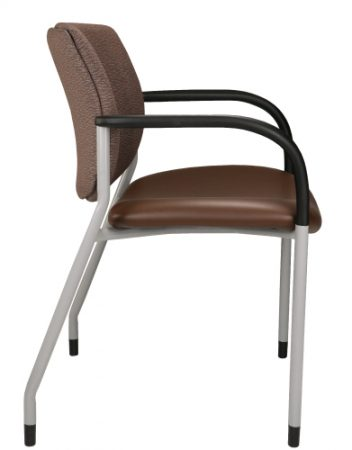 Brown Jem +3 guest chair, side view
