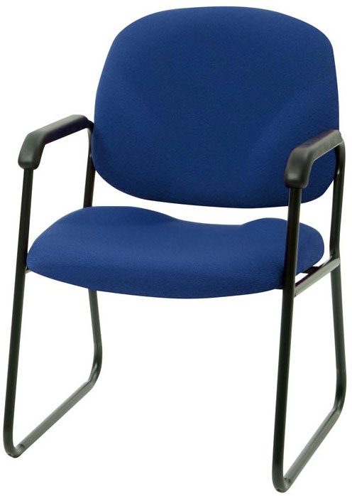 Blue Start Chair with black frame and arms