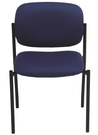 Blue stacking chair, armless