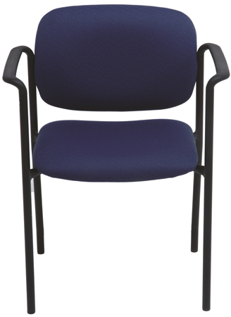 Blue stacking chair with arms
