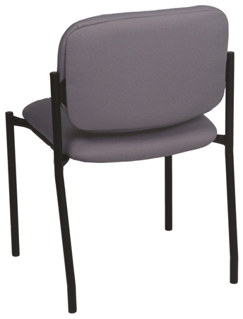 Stacking chair has non-exposed back attachment