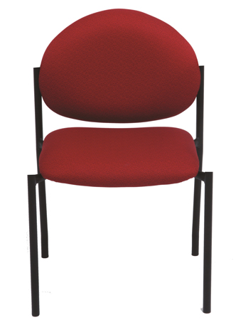 Red stackable chair without arms
