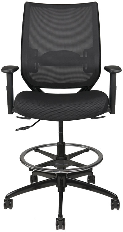 Nifty Stool with arms and mesh back