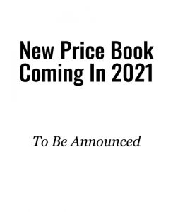 New Price Book Coming In 2021