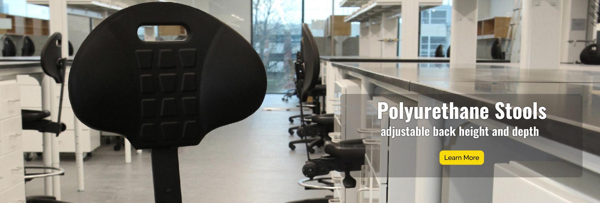 Polyurethane Stools have adjustable back height