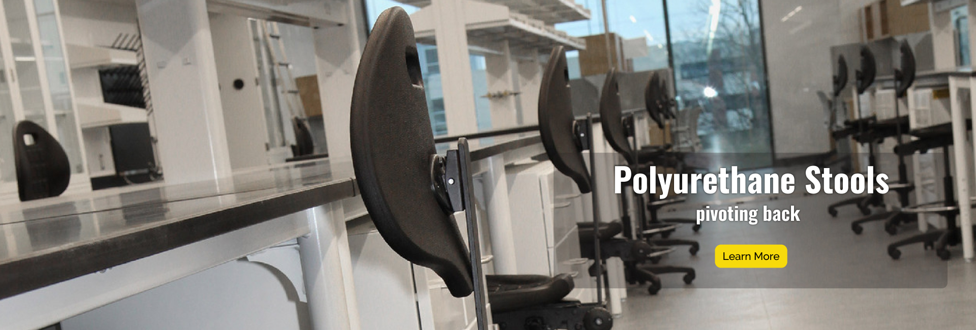 Polyrurethane Stools have pivoting back