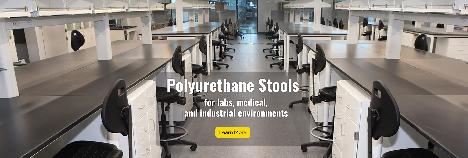 Polyrurethane Stools for labs, medical and industrial environments