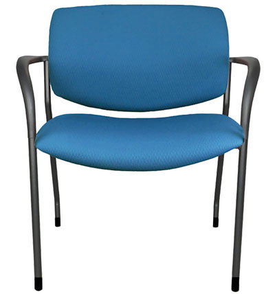 Wide side chair with arms