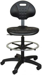 Height-adjustable polyurethane lab stool