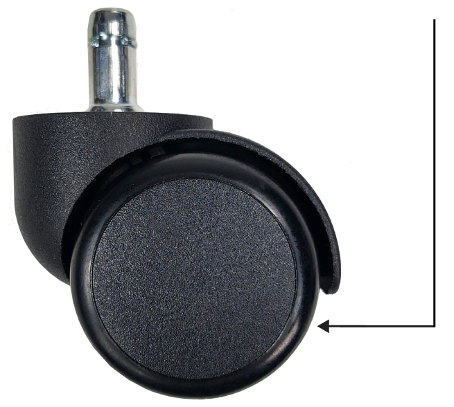 Polyurethane lab stool has soft wheel, hard-floor casters