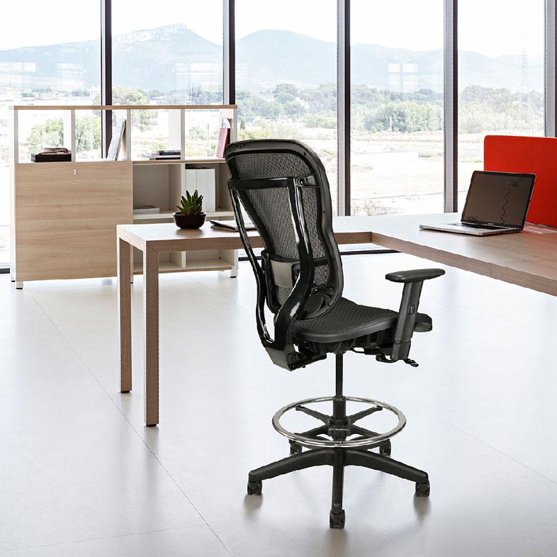 Ergonomic Mesh Drafting Chair